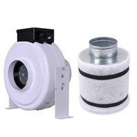 Wholesale 4 quot Inline Fan Air Blower Carbon Filter Combo Hydroponic Odor Control Scrubber A