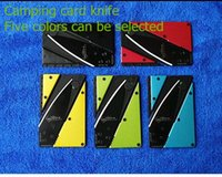Cheap Portable outdoor camping knife folding knife, credit Folding card, mini card knife, fruit knife