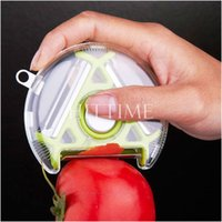 Wholesale Practical in Multicolor Kitchen Peeler Rotary Triple Peeler Fruits Vegetables Serrated