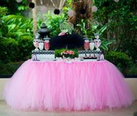 Wholesale Handmade Tutu Tulle Table Skirt Cover for Girl Princess Birthday Party Baby Shower Slumber Party Home Decoration Beautiful Eye Catchin