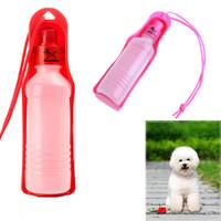 Cheap Potable Plastic Pet Dog Cat Animal Water Feeding Drink Drinking Bottle Dispenser 250ml Pink Blue Red