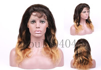 Wholesale Glueless Brazilian Remy Ombre Hair Full Lace Wig Lace Front wigs B Human Hair Body Wave wigs For Black Women