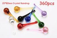 Wholesale 360pcs colors mixed x80mm crystal chandelier pendants crystal curtain pendants crystal chandelier parts