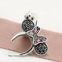 beads headband - 2015 New Spring Sterling Silver Minnie Headband Dangle Charm Bead with Cz Fits European Pandora Jewelry Bracelets Necklaces Pendants