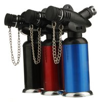 Wholesale Soulton Glass Jet Butane Gas Torch Fits BBQ Kitchen Lighters Flame Gun Selling Without Gas FG