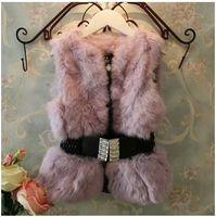 rabbits for sale - New Girl Fur Waist Coats Fur Coats Childrens Best Sale Waistcoat Girls Sleeveless Real Rabbit Fur Coat For Warming Up