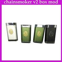 Chainmoker v2 box mod Double 18650 mod box VS bombardier cerise ABS V2 castigador manhattan Porte infernale chainsmoker DHL 0207530