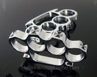 Wholesale QTY CHOPPER CHROME BRASS KNUCKLES KNUCKLEDUSTER BUCKLE Safety Products