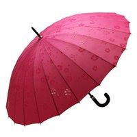 adult water slides - New Lady Bone Water Blossom Windproof Princess Umbrella Super Large Long Handle Double People Umbrella