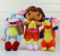 game dora - 3 Styles Dora the Explorer inch DORA Boots Monkey Fox Plush Dolls Toy Children Birthday Gifts