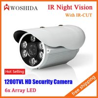 Wholesale CCTV Camera TVL HD Security Camera Night Vision Array IR LED Waterproof IP66 With IR CUT Woshida