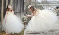 Cheap 2015 New Desinger Cute Little Girl Dress Best For Wedding Spaghetti Straps Appliques