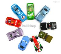 Cheap 9Pcs Set Pixar Cars 2 The King Chick Hicks Mcque Sally Francesco Sheriff Sarge Ect Diecast Metal Kids Toy