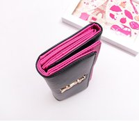 Cheap 2015 new fashion Designers Splice women's Leather Handbags Wallet Purse Clutch