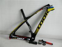 Wholesale New arrival carbon fiber frames MTB or E Post carbon Mountain bike frame with carbon stem ER MTB bicycle frameset sizes M L