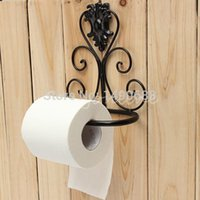 bathroom toilet holders - Vintage Classical Iron Toilet Paper Towel Roll Holder Bathroom Wall Mount Rack