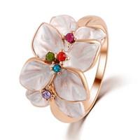 Wholesale Rings for Women Diamond Rings Engagement Cubic Zirconia Rings Luxury Fashion Jewellery Swarovski K Rose Gold Wedding Ring Set