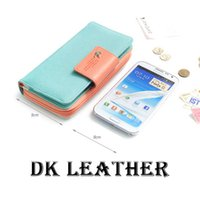 Wholesale The New Women s High Capacity Bump Color Buckles Long Wallets Phones Fit For Iphone S S C Sumsang