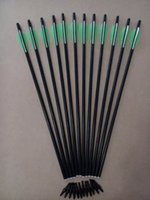 Wholesale cm fiberglass hunting arrow Crossbow Bolts quot TPU shoot beast archery bow outdoor