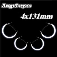 12v ccfl - 4pcs mm CCFL Angel Eyes Halo Ring Lights Car Headlights White V for BMW E46 E36 E39 E38 Car Styling Car External Lamps