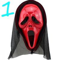 Wholesale Halloween Costumes Masks Horror Grimace Mask Screaming Devil Mask Props COS