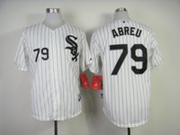 pinstripe baseball jerseys - Chicago White Sox Jose Abreu White with black pinstripe Home Jersey Baseball Authentic Jerseys Stitched Baseball Cool base Jersey
