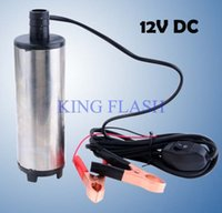 Wholesale 2pcs New V DC Diesel Fuel Water Oil Car Camping Fishing Submersible Transfer Pump SV000324