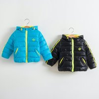 Wholesale Brand New Fashion winter clothing new Children Shampooers Jogging Tracksuits Sport Outerwear boy s thicken with hood cotton coat