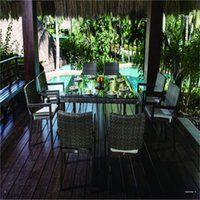 Wholesale Outdoor rattan furniture dining table and chairs