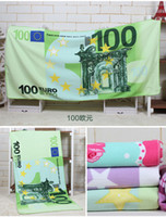Wholesale The euro dollar Russian bear extra soft water absorption Superfine fiber reactive printing beach towel bath towel