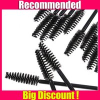 100 applying makeup - Cheap Disposable Eye Lashes Brush Black Mascara Brush Apply Tool One off Eyelash Makeup Brushes
