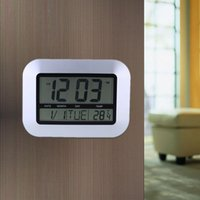 Wholesale Multi function Electronic Temperature Meter Calendar LED Digital Wall Clock Alarm Clock E0851