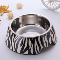 Melamine Stainless Steel melamine dog bowl - Elevated Stainless Steel Dog Bowls Can Use the Dishwasher High Quality Zebra Color Melamine Stainless Steel Bowl BL003