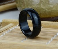ancient chinese jade - Chinese ancient jade black agate rings BanZhi widened version number men and