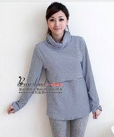 Wholesale Hot Winter Fashion Thermal Cotton Maternity Supplies Feeding Shirts Nursing Tops Breast Feeding Tops