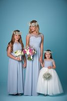 best junior dresses - Per Piece Long Bridesmaid Chiffon Dress Gray Formal Wear Bateau Neck Lace Dress Party Wear Chamring Cheap Gown Best Design Sweet
