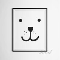 bear picture frames - Cartoon Bear Face Canvas Art Print Poster Wall Pictures for Nursery Room Decoration Frame not include