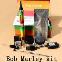 kit bob Marley con atomizador tanque de hierbas 3 en 1 Snoop Dogg vaporizador 650mAh pluma hierba seca de color del arco iris caja de lujo del envío libre 0211169 -4