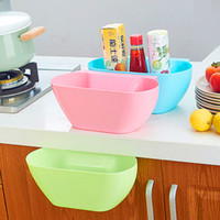 Wholesale Colorful Eco Friendly Novelty Kitchen Hanging Sundries Storage Barrel Waste Bin Storage Box Bowl Dustbin Storage bucket drop shipping