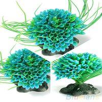 Wholesale Artificial Water Plant Decor Plastic Green Grass Ornament for Fish Tank Aquarium