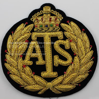 ats down jackets - Spot ATS advanced suit label exquisite handmade Gold Silk Hand Embroidered down jacket CM