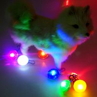Wholesale Pet Collar SpotLit Clip on LED Shining ID Dog Cat Supplies Collars Pet Pendant Go Anywhere Light Safe Night Reflective Colors Xmas Gift