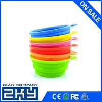 Wholesale disposable eco friendly silicone cheap pet bowl for promotion