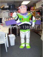 adult space suit - New Cartoon Character adult size For Halloween Costume mascot fancy Space ranger Buzz Lightyear ToyStory costumes outfit suit