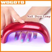 Wholesale Nail Dryers W LED Mini Curing Lamp UV Gel Nail Art Tools Mini Electric Nail Dryer Polish Nail Dryer Fast Ship DHL Free