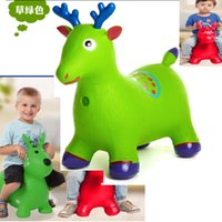 Wholesale Fast custom new Inflatable kids children music pvc rider animal rider horse design by express