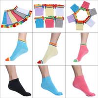 Wholesale 10pairs Cotton Skidproof Sports Yoga Socks Women Toe Non Slip Massage Socks Hosiery EXP