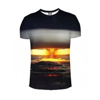 atomic brands - 2016 Street Style Couture New Harajuku Style Mens Fashion TShirt Mushroom Cloud Atomic Bomb Print D Camisetas Brand Design Tops