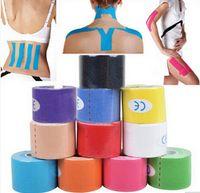 venda por atacado elastic tape-5 centímetros x 5m NOVO Cinesiologia Kinesio rolo de algodão elástica adesiva Sports Muscle Tape Bandage Physio Suporte Lesões por Esforços