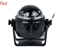 Wholesale 12V LED Lights Pivoting Compass New Sea Marine Electronic Digital Compass Boat Caravan Truck White Compass Outdoor Gear Top Hot TK0166